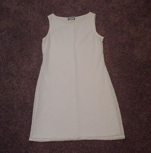 Aqua blues white lace midi dress